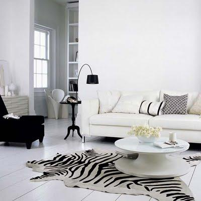 Zebra cowhide rug design ideas for Living room ideas with zebra rug