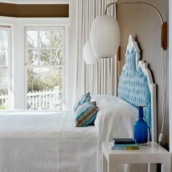 Baroque Headboard, Eclectic, bedroom, Ghislaine Vinas Interior Design