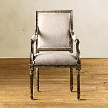 Vintage French Square Armchair, Dining Chair Collection, Furniture