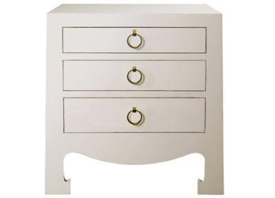 Elegant Jacqui 3 Drawer Side Table Bungalow 5 Furniture Asian Bedside Table Painted  Lacquer Furniture Extra Tables