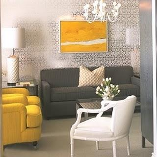 Gray and yellow room contemporary living room kelly - Yellow and gray living rooms ...