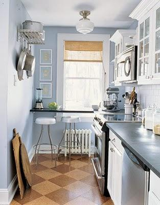 Blue Kitchen Paint Color Design Ideas