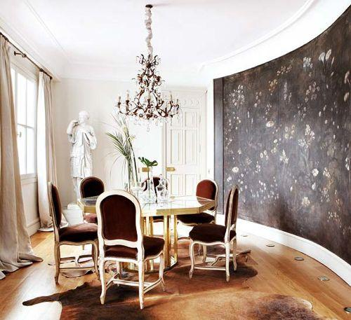 Brown Cowhide Rug Design Ideas - Cowhide rug dining room