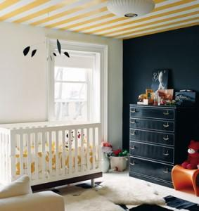 Striped Nursery, Contemporary, nursery