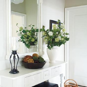 White Farmhouse Table, Country, entrance/foyer, Style at Home