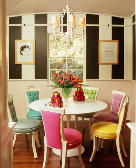 Striped Chairs Design Ideas