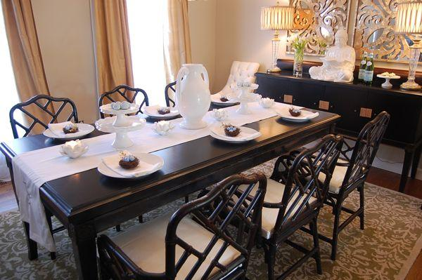 Easter Table Setting Ideas - Asian - Dining Room - Benjamin Moore