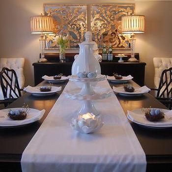 Easter Table Setting, Asian, dining room, Benjamin Moore Grant Beige