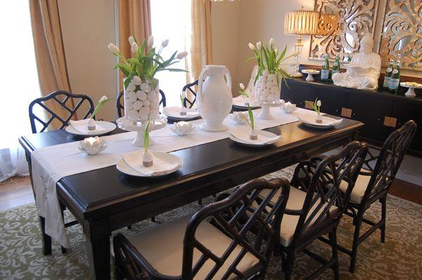 Easter table setting ideas asian dining room for Dining room table setup ideas