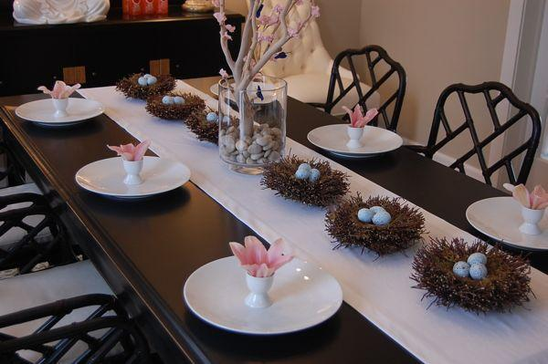 Easter Tablescape Asian Dining Room Benjamin Moore
