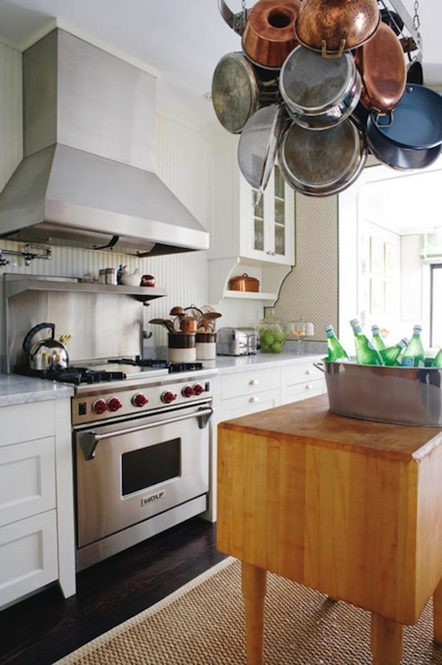 Pot Rack Over Island Design Ideas