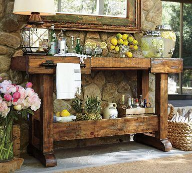 Markham Console Bar Pottery Barn