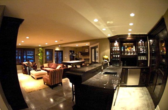 Wet Bar Design Transitional Basement Pratt And