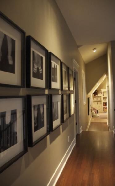 Black And White Photo Wall Transitional Entrance Foyer