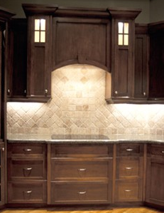 Travertine Tile Backsplash Traditional Kitchen