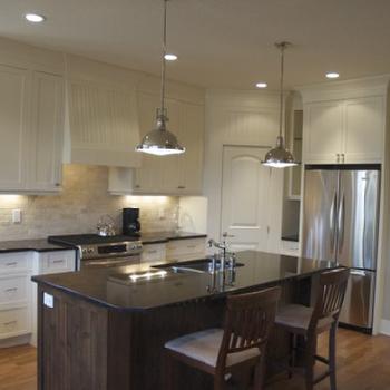 Travertine Subway Tile, Transitional, kitchen, Veranda Interiors