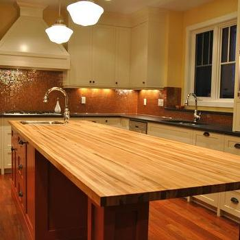 Maple Butcher Block Countertop, Transitional, kitchen, Veranda Interiors