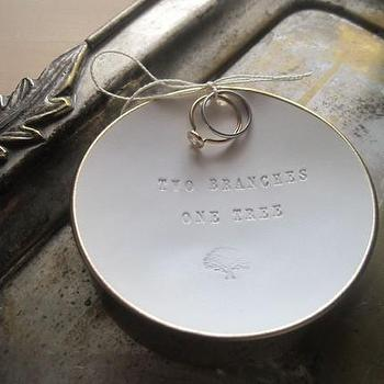 TWO BRANCHES ONE TREE ring bearer bowl TM with gold by palomasnest