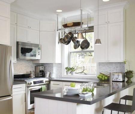Kitchen Backsplash White Cabinets Gray Countertop gray quartz countertops design ideas