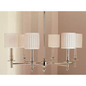 Palmer Polished Nickel Six Light Chandelier In Chandeliers From Bellacor