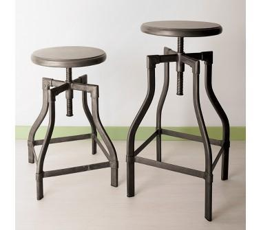 Crate and Barrel Turner Iron Round Barstools