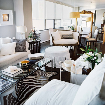 Glass Topped Coffee Table, Contemporary, living room, Lonny Magazine