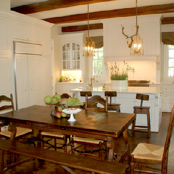 Trestle Dining Table, Country, kitchen, Lori Tippins Interiors