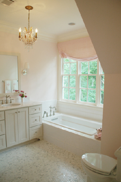 Pink Bathroom Traditional Bathroom Lori Tippins