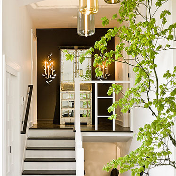 Black Accent Wall, Eclectic, entrance/foyer, Jessica Helgerson Interior Design