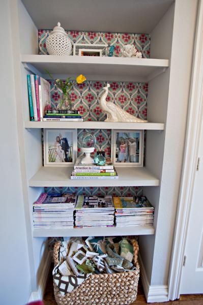 Bookshelf Nook Contemporary Den Library Office