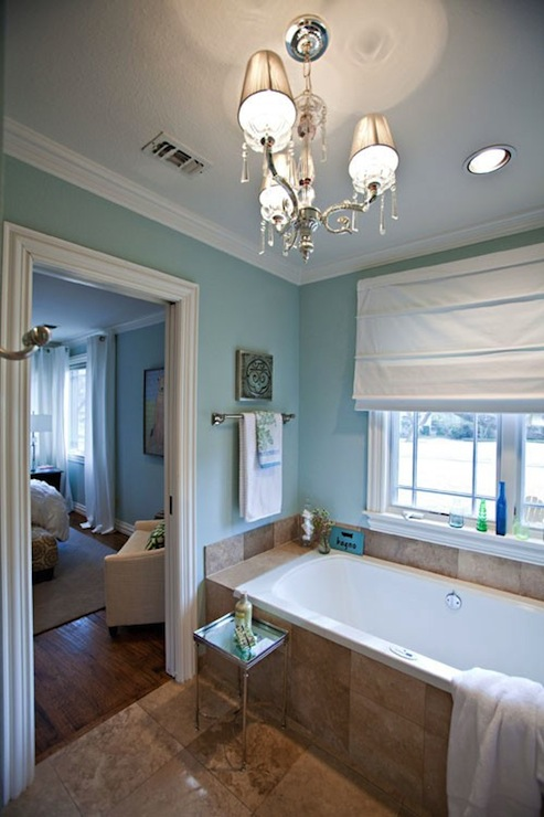 Spa Blue Paint Color Contemporary Girls Room