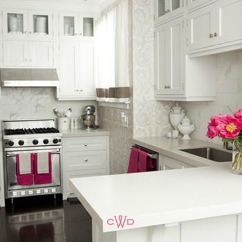 Hot Pink Accents, Transitional, kitchen, Caitlin Wilson Design
