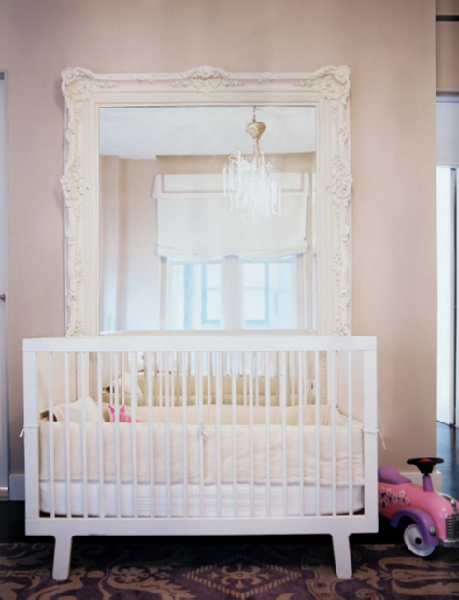 Baroque Floor Mirror - Transitional - nursery - Lonny Magazine