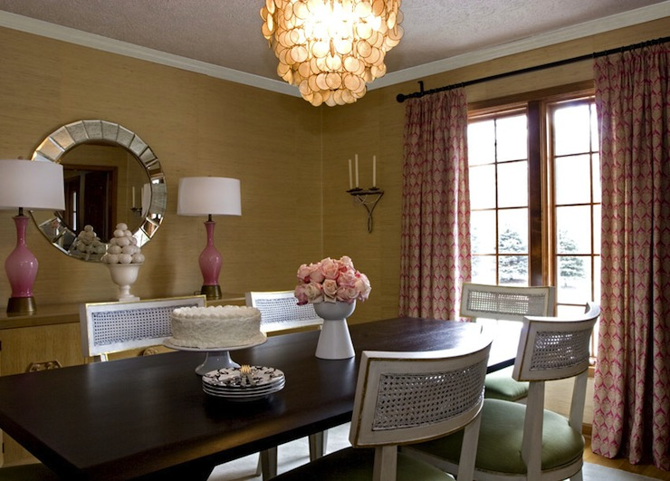 gold grasscloth dining room wallpaper design ideas