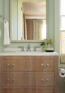 Wire Brushed Oak Vanity Transitional Bathroom Angie