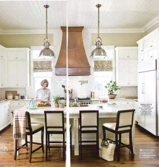 Copper Range Hood- Cottage - kitchen - Urban Grace Interiors