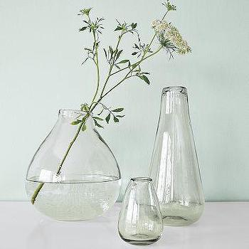 Recycled-Glass Vases, west elm