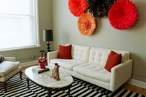 Ikea stockholm rand rug design ideas - Orange and black room decor ...