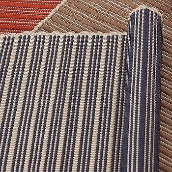 Reversible Striped Indoor/Outdoor Rug, Blue, Pottery Barn