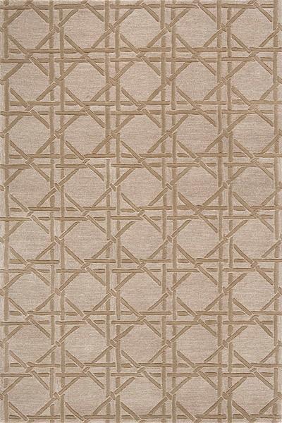 Delhi Borderless Lattice Rug In Taupe   DL 27