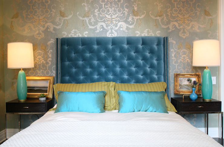 Turquoise Headboard Design Ideas