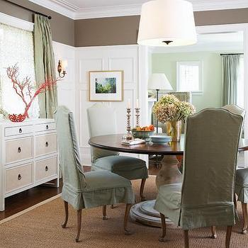 Cottage Dining Room Ideas, Cottage, dining room, Farrow & Ball Mouse's Back, House & Home