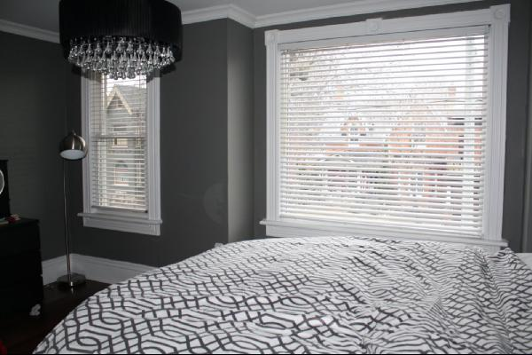 Gray Walls Contemporary Bedroom Benjamin Moore Asphalt Life Begins At Thirty
