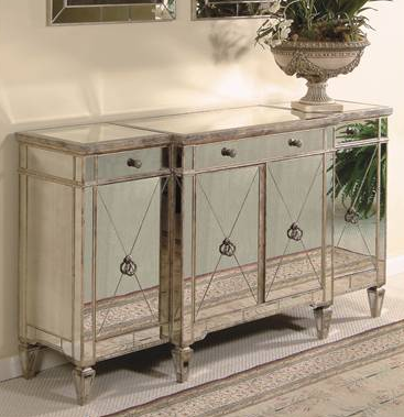 mirrored buffet tables horchow mirrored buffet console l4l 4158