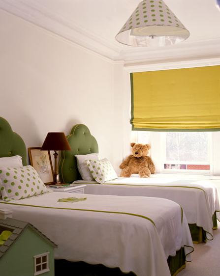 green tufted headboard - traditional - girl u0026 39 s room