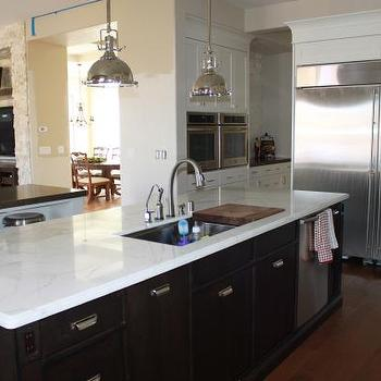 Calcutta Marble Counters, Transitional, kitchen, Sherwin Williams Canvas Tan
