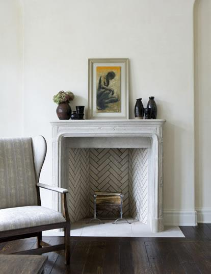 brick herringbone firebox design ideas