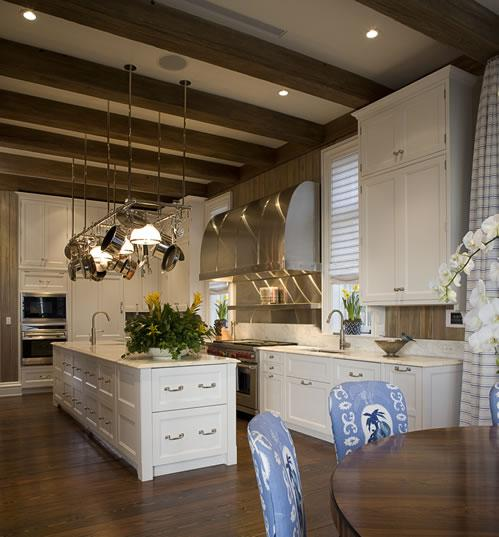 Exposed Beams Ceiling Mediterranean Dining Room