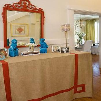 Turquoise Foo Dogs, Eclectic, entrance/foyer, Palmer Weiss