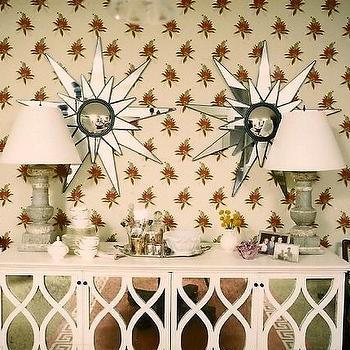Mirrored Buffet, Eclectic, entrance/foyer, Sara Gilbane Interiors